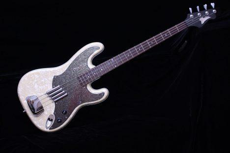 Italia Modulo Electric 4 String Bass White Sparkle